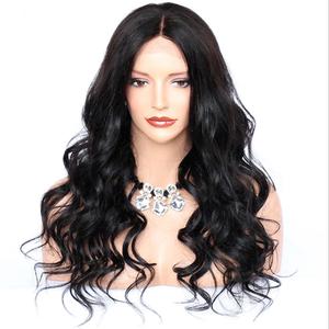 Natural wave high density 360 human hair wig