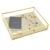 crystal brass and glass display jewelry boxes with linen insert
