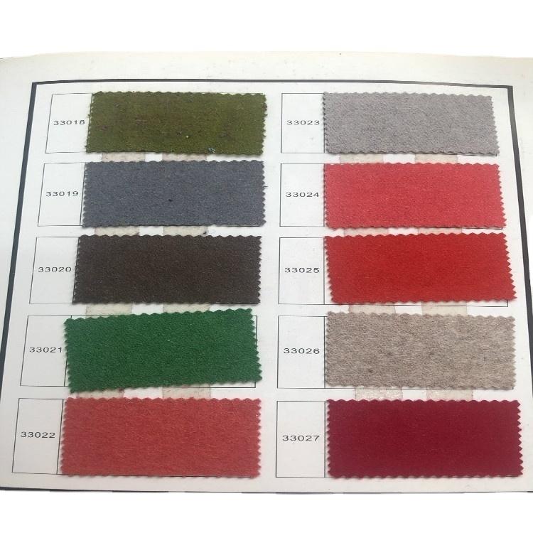 60% Wool 40% Viscose winter coat in stock factory supply 600g/m Melton Fabric