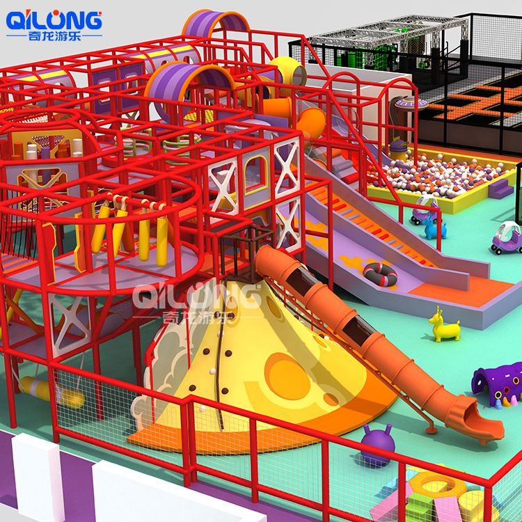 Hutan Ajaib Komersial Daya Tarik Soft Play Kids Indoor Adventure Playground Peralatan