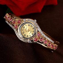Женские часы-браслет из розового золота, модные роскошные кварцевые часы, Брендовые женские повседневные часы под платье, спортивные часы, ...(Китай)