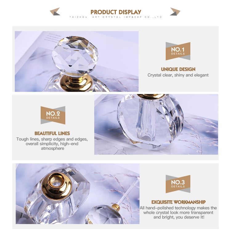 Luxury new home decoration crystal perfume bottle