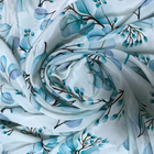 Textile 16MM Silk Crepe De Chine 100% Silk Fabric Digital Print Service For Fashion Garment