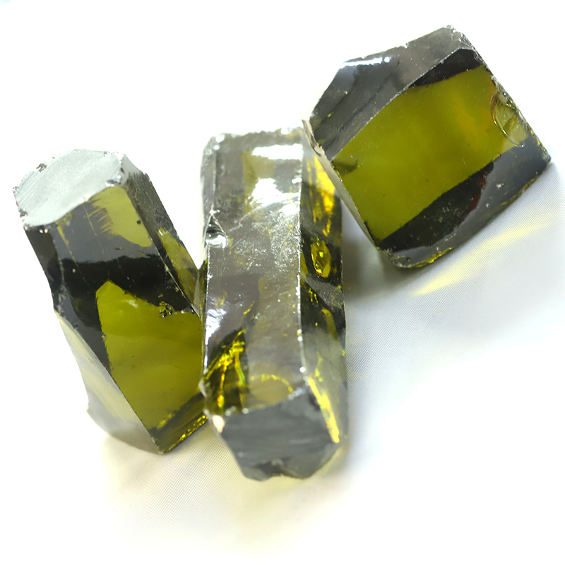 peridot color zirconia rough cz material