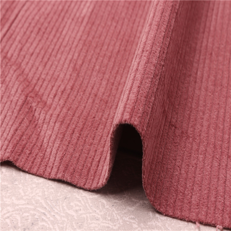 Factory direct sale 8w red cotton corduroy fabric