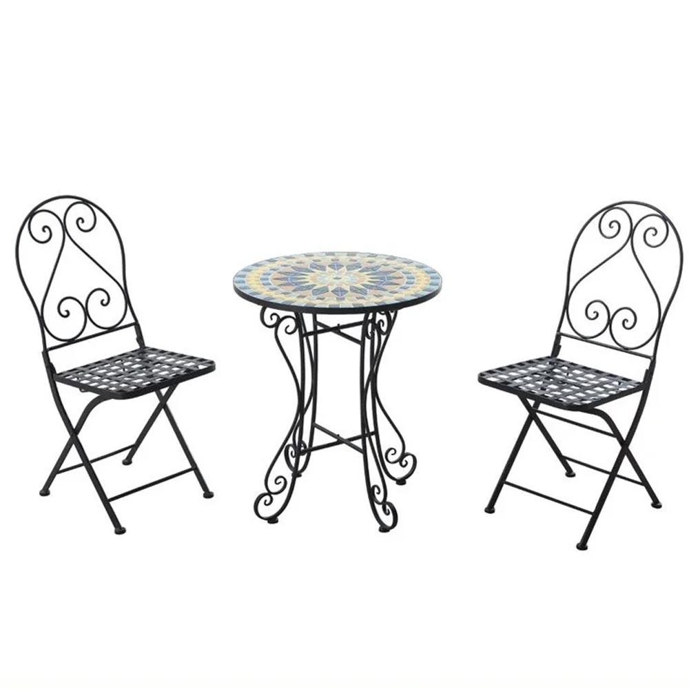 Grossiste table ronde mosaique fer forgé-Acheter les ...