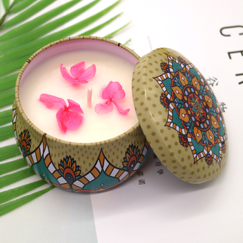 aromatherapy candles in tin wholesale/ tin candle/ glass candle