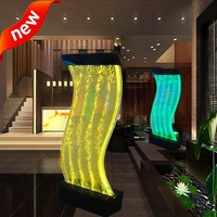 Hot selling product water bubble screen acrylic led lighting furniture water bubble wall