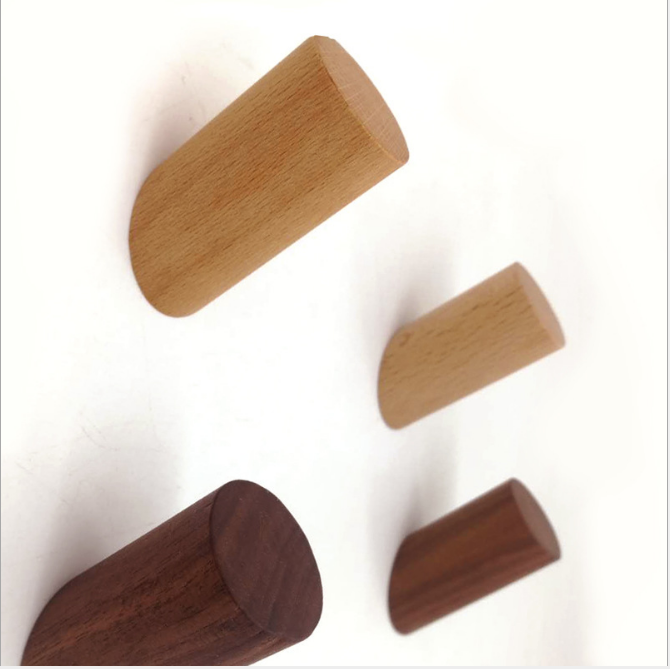 Natural Eco-friendly wooden clothes wall Hook/ wall hanging clothes hooks