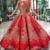 Jancember HTL0604 red little queen 2019 girl tulle pattern princess party sequins flower girl dress