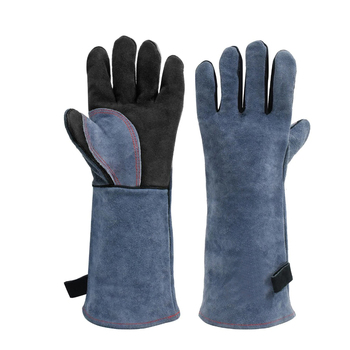 Welding Gloves Kitchen Stove Heat Puncture Resistant Pet Training Thick Leather Gloves Buy Top Grain Cow Leather Gloves Palm Fleece Lining Gloves Flexible Dexterity Heat Gloves Resistant Tig Welding Gloves Best Quality Cowhide Split Leather Work