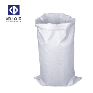 pp Sand Bags plastic containers for 25kg 50kg cement flour packaging poly Woven Bag