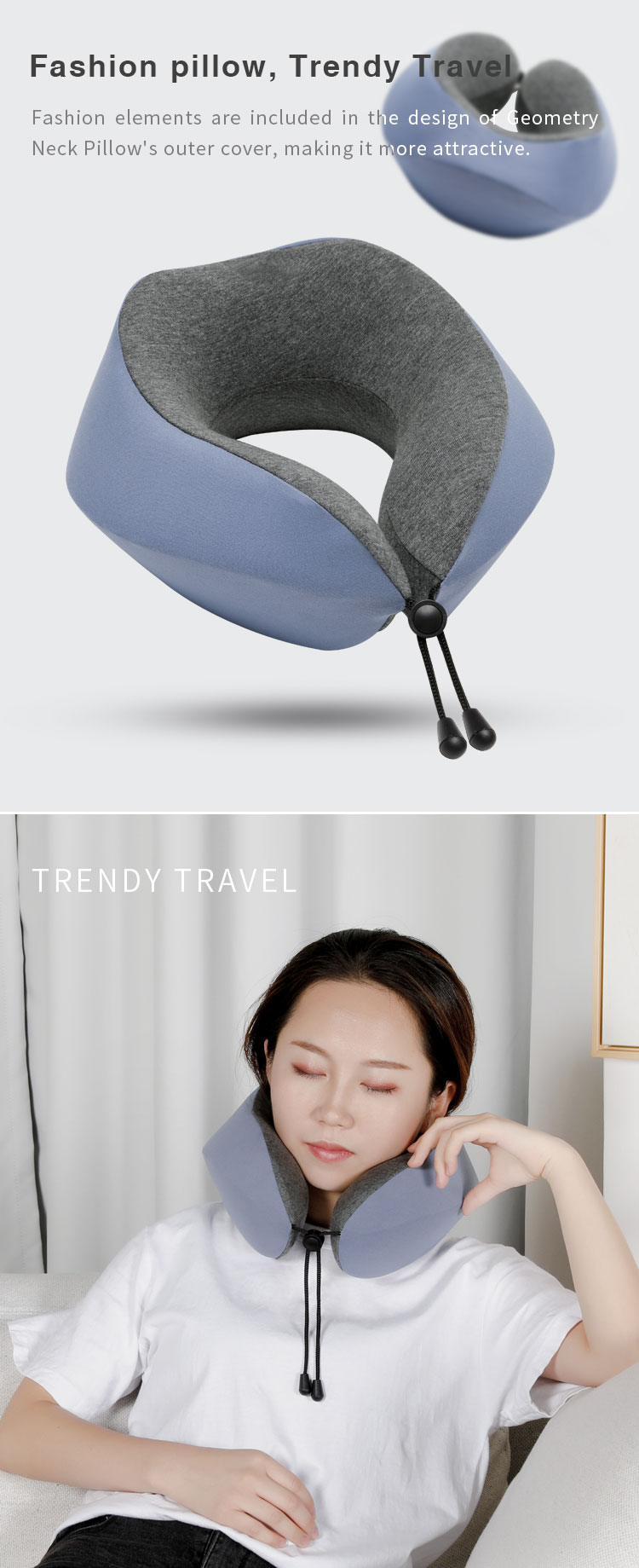 New Folding Patented Wholesale Travel Neck Rest Pillow Memory Foam Travel Pillow