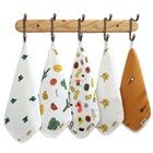 super cymru cartoon printed cotton muslin baby washcloth handkerchief teething saliva towel baby face towel