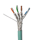 Fire Resistant Twisted Pair Solid Conductor LSZH Sheath 4x2x23AWG SFTP Cat6a Cat7 Network Cable