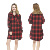 Yarn Dyed Flannel Button Down Sleep Shirts Women Nightshirt Thermal