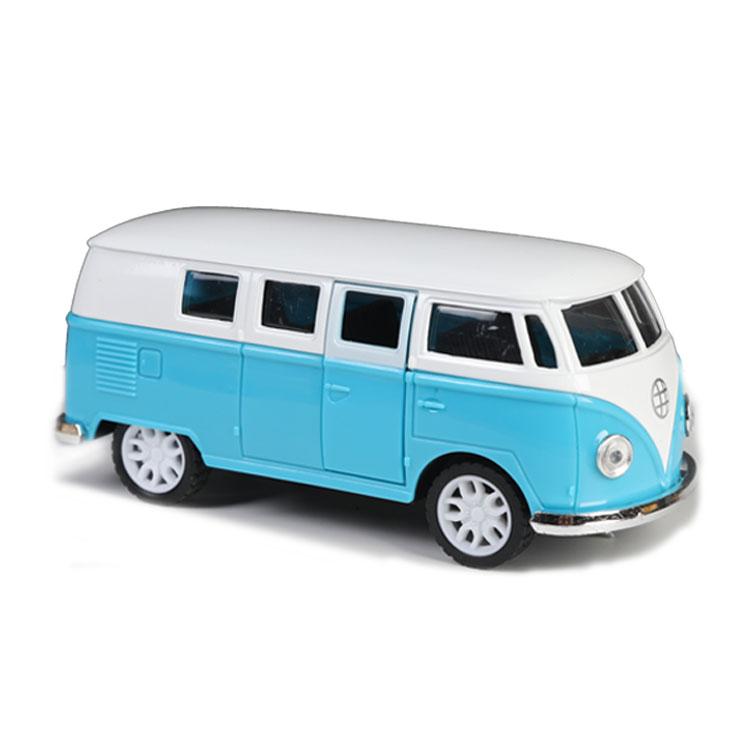 High quality Vintage doors open bus alloy die cast car model 1/32 metal toys