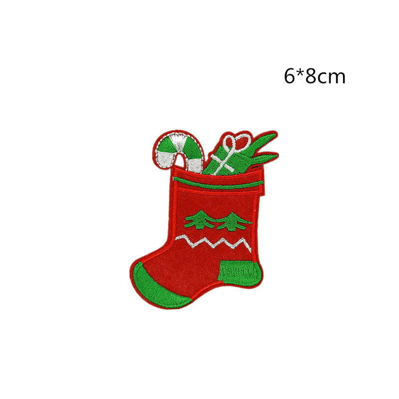 Wholesale cheap Christmas theme cute stick on clothing patches embroidery