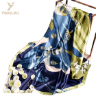 New 90*90 square latest scarf designs wholesale fashion women Soft Dream scarves multiple uses Triangle scarf