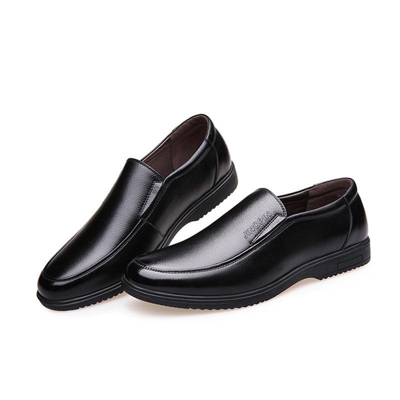 Marrone Altezza Crescente genuino morbida e confortevole calf custom made stile Italiano pattino di vestito di cuoio degli uomini casuali di affari