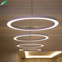 Ring LED Chrome Art Luxury Light LED Ceiling Pendant Lamp Lighting