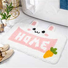 Cartoon Dier Kat Go Away Printing Deurmat Flanel Home Decoratie antislip Vloermat Kat Deur Mat