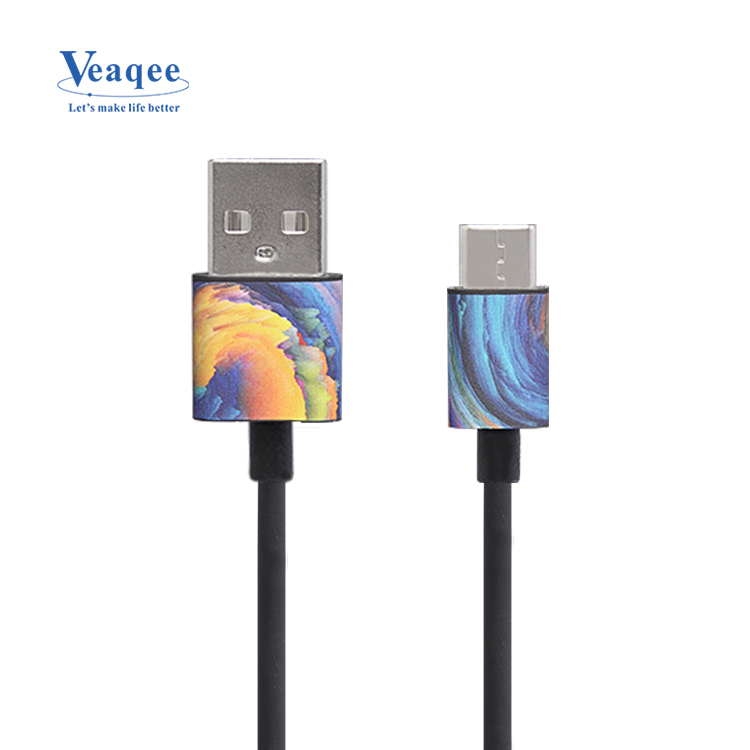 Veaqee chaeap USB data charger kabels in pakket OEM ODM cloud kleur