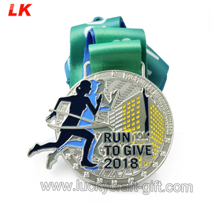Cheap Custom made 3d running marathon race sport finisher award metal medal medallion