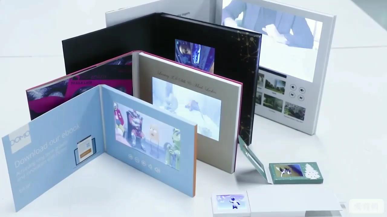 Horizontal Brochura Vídeo Tela 7 Polegadas Tft Digital Diy Personalizado Para A Promoção Do Carro