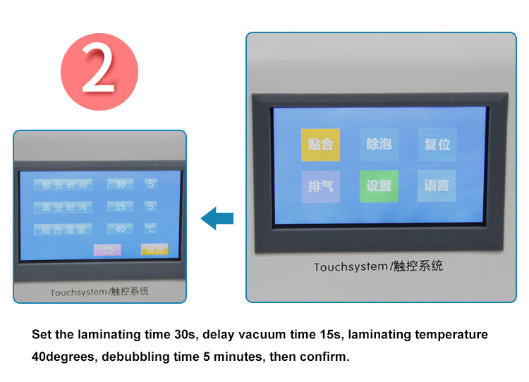 2 in 1 TBK 908 LCD Bubble Remover Machine OCA Laminating Machine  for edge and flat screen glass LCD