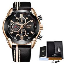 LIGE мужские часы, модные кварцевые часы для мужчин лучший бренд военные водонепроницаемые часы Дата часы спортивный хронограф коробка(China)