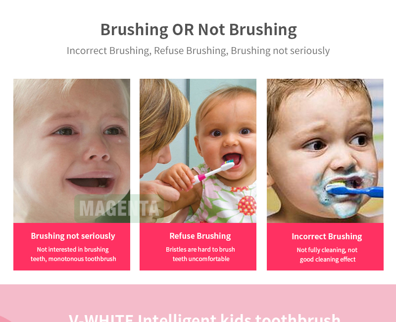 USB Rechargeable private label small mini v-white children electric toothbrush electric toothbrushes