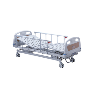Triple-rocker patient medical bed hospital medical nursing hospital manual care size beds from china