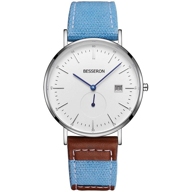 China BESSERON Low Moq High quality Oem Odm Brand logo stainless steel quartz relojes  hombre men wristwatches