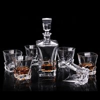High white crystal decanter set glass whisky decanter wine decanter