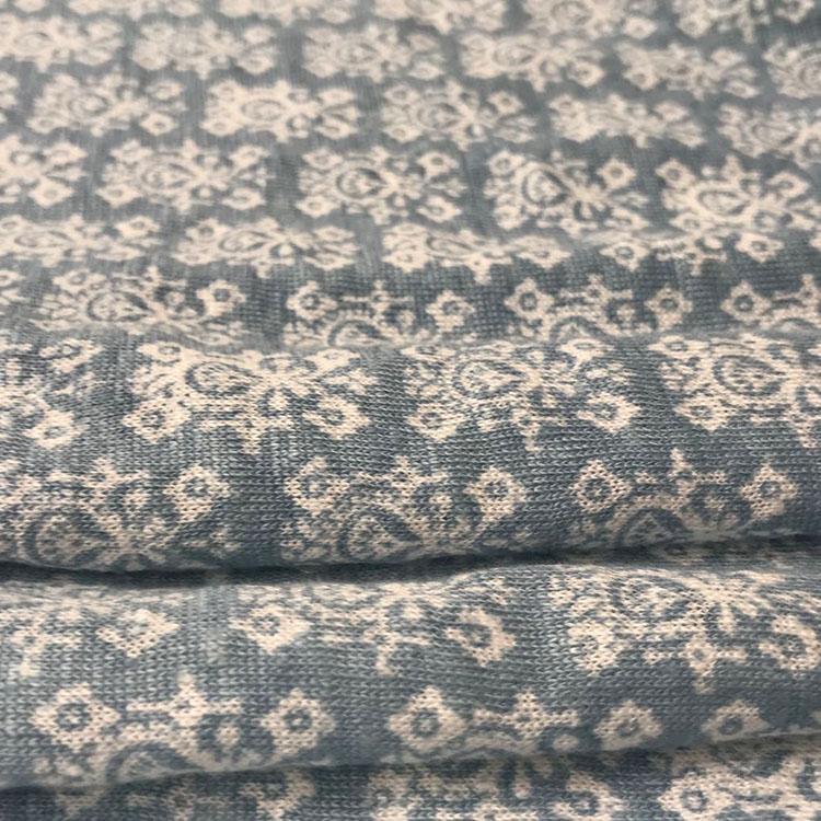 High Quality Single-Faced Plain Blend 100% Linen Fabric Knitwear Fabric