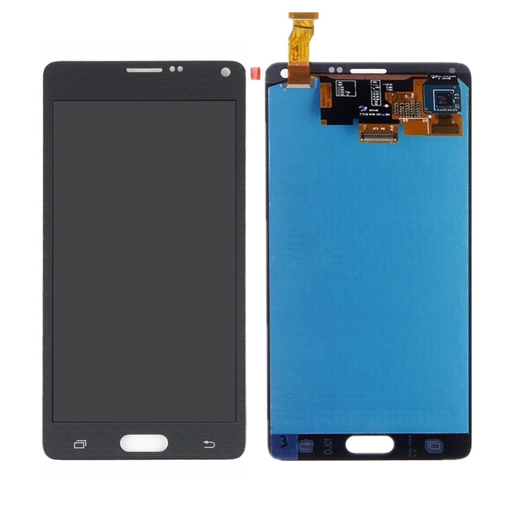 Kostenloser Versand Original LCD Display für Samsung Galaxy Note 4 N910 Touchscreen Digitizer mit S Stylus Stift Flex Kabel