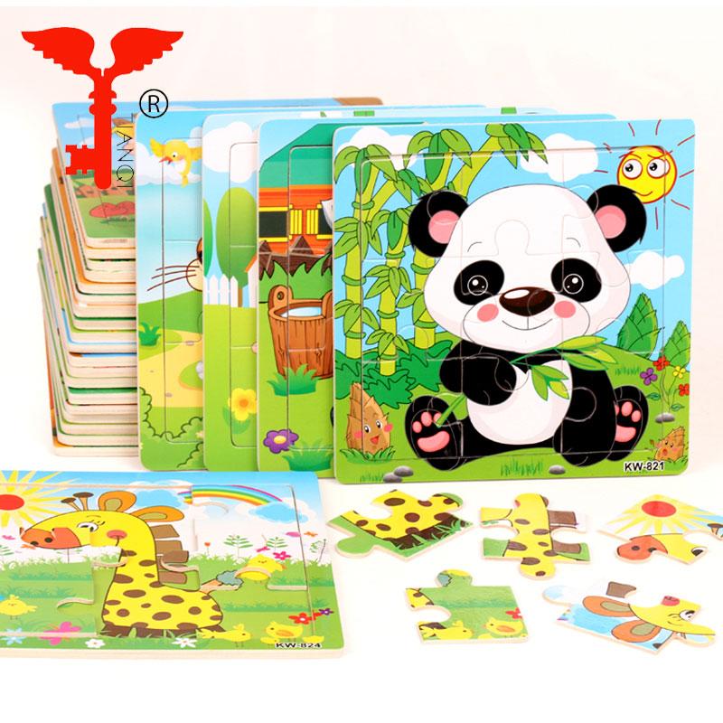 Baby Kleinkind Intelligenz Entwicklung Tier Holz Ziegel Puzzle Spielzeug Klassi^