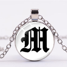 SONGDA A to Z старая подвеска с надписью на английском ожерелье с первоначальным именем персонализированное ожерелье с алфавитом уникальный под...(Китай)