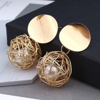 Fashion cheapest gold pearl earrings For Women Wholesale N99031