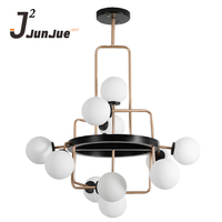 Creative designer of lamps and lanterns in Nordic living room magic bean glass modern and simple dining room bedroom chandelier