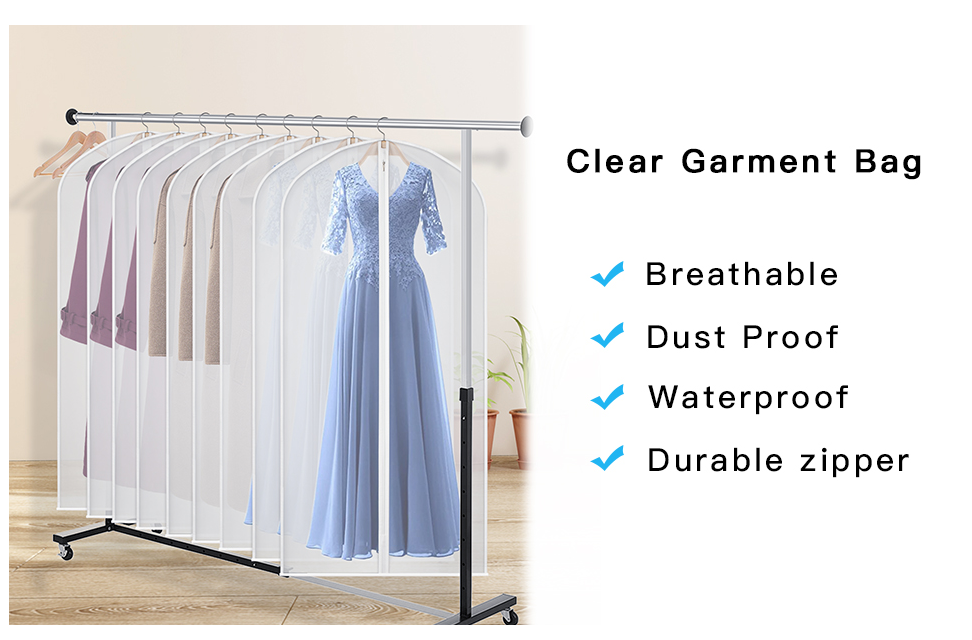 product-GF bags-Garment Bags Dress Bag for Storage 60 inches Dust-ProofCover Bag with Zipper for Lon