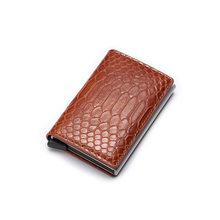 DIENQI Rfid Smart мужские бумажники, кошелек Magic Trifold Mini Slim, мужской маленький кожаный бумажник, тонкие сумочки из змеиной кожи, Vallet Walet(Китай)