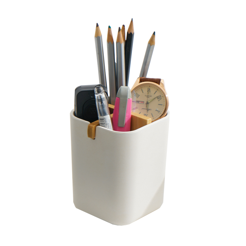 FDA new white design multi-function customs <strong>bamboo</strong> fancy <strong>pen</strong> pencil <strong>holder</strong>