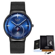 Relogio Feminino 2020LIGE женские часы s синие модные часы женские сетчатые водонепроницаемые часы тонкие кварцевые женские часы Zegarek Damski(Китай)