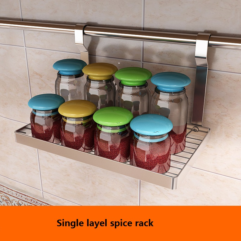 6PCS Full Set Kitchen Accessories Shelf Wall Mounted Drill Free Bathroom Towel DIY Rack Free Shipping