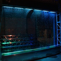 Garden graphical digital water curtain with high quality