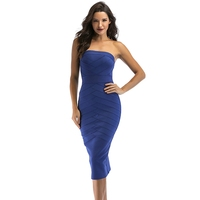 Factory direct selling sexy elegant summer superior quality midi off shoulder bodycon party dress