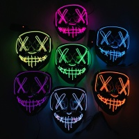 Hot Sell Halloween Purge EL Light Up Mask Horror Theme Party Props LED Beauty Halloween Kids Toy