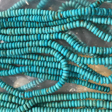 Top Quality <span class=keywords><strong>Enorme</strong></span> Naturale Arizona Turchese Liscio Perline Roundel Strand